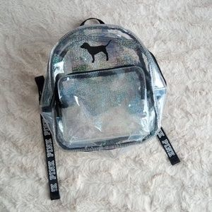 🆕 PINK clear mini backpack